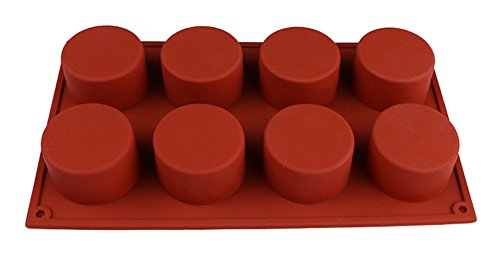 Taloyer 1 PC 8 Holes Round Cupcake Mold Silicone Handmade Jelly Pudding Cookie Ice Craft Mold DIY