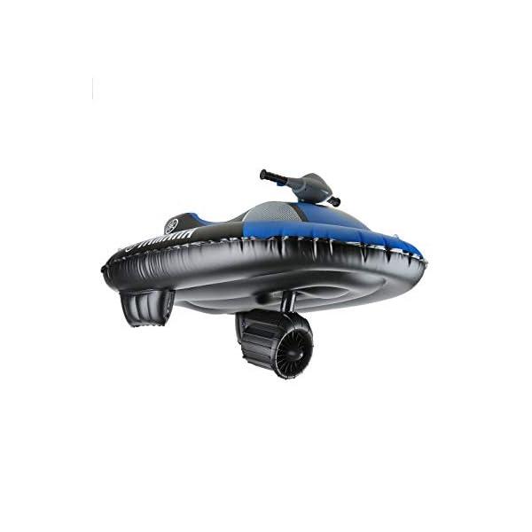 Yamaha YME23004, Moto d'Acqua Gonfiabile Aqua Cruise Elettrica Unisex-Bambino, Blu/Nero, 148 x 87cm (gonfio) 3 spesavip