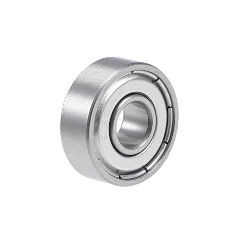 uxcell S606ZZ Stainless Steel Ball Bearing 6x17x6mm Double Shielded 606Z Bearings (P6Z2 Lever) - 6mm Bearings Ball Sealed