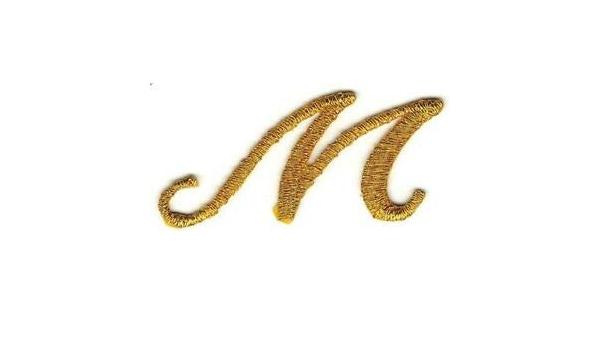 """1 1//8/"""" Fancy Black Script Cursive Alphabet Letter J Embroidered Patch"""