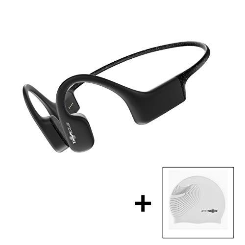 AFTERSHOKZ Xtrainerz Open-Ear MP3 Bone Conduction Wireless Sport Headphones, Waterproof for Lap Swimming and Watersports…