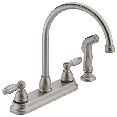 Peerless Kitchen Faucet Low Lead Two Handle H Arc Spout Designer