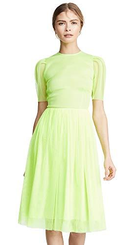 Ewa Herzog Women's Puff Sleeve Midi Dress, Lime Green, 6