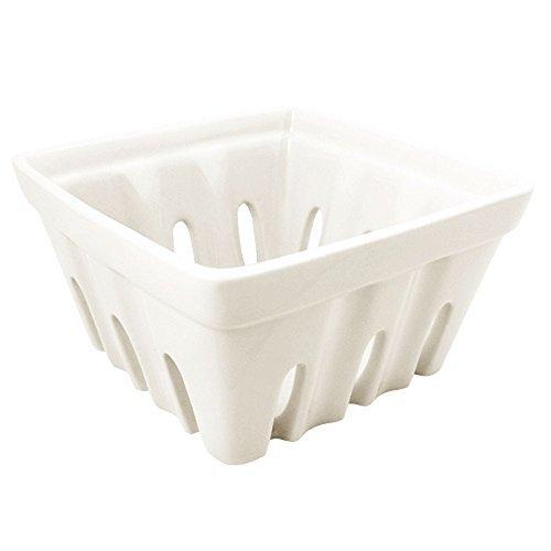 Fishs Eddy Ceramic Berry Basket (White)