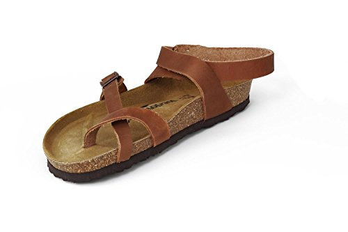 Joe N Joyce Yana Læder Olieret Soft-fodseng Sandaler Normal Natur Ixgwk