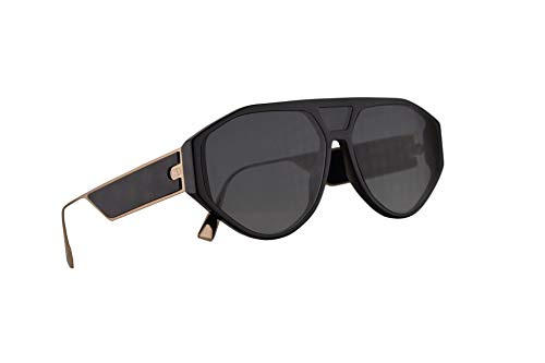 Christian Dior DiorClan1 Sunglasses Black w/Grey Lens 61mm 8071I Clan 1 ()