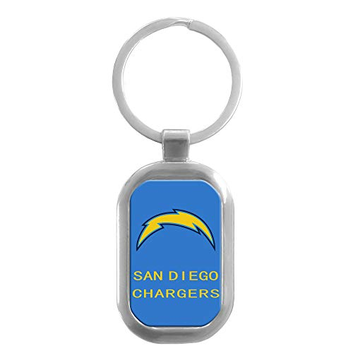 CHNNFC NFL Premium Domed Stainless Steel Key Ring (San Diego Chargers) (Ring Chargers San Key Diego)