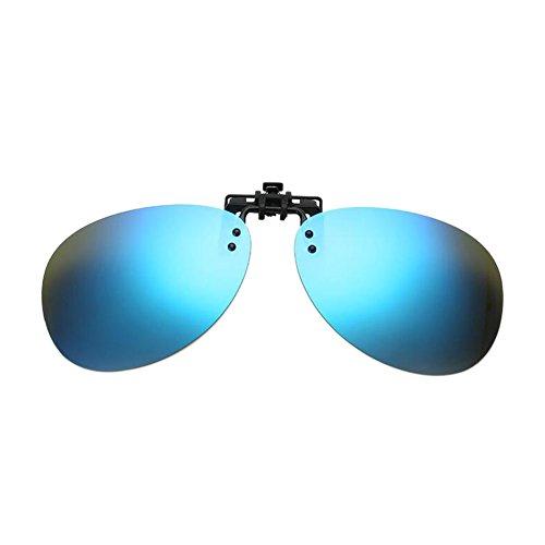 on Lunettes soleil Ice Clip Flip Hommes Polarisé Driving Meijunter up de Round Lentille Myopia Fishing Blue UV400 X7Y0XnvZ
