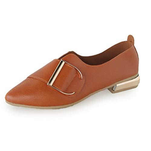 SSYUNO Big Sale Woman Casual Classics Point Toe Shallow Shoe Work Ladies Flat Slip-On Shoes Single Shoes -