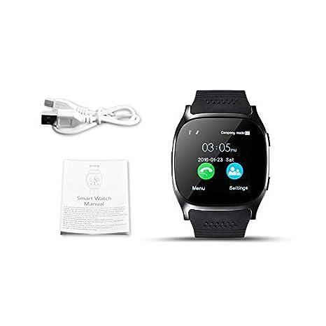 WEIWEITOE-ES Reloj Inteligente T8 con cámara Reproductor de ...