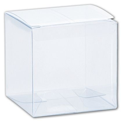 Deluxe Small Business Sales G-02 3 x 3 x 3 in. One-Piece Boxes, Clear