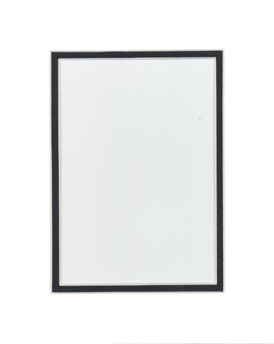 Pack of 20 11x14 WHITE/BLACK Double Mats Mattes for 8x10 photo with White Core Bevel Cut + Backing + Bags