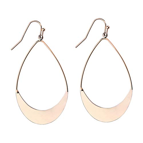 (XBKPLO Hoop Earrings for Women's Elegant Round Simple Fashion Classic Drop Dangle Earring Hook Wild Wedding Jewelry)