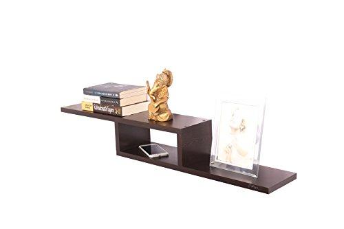 Anikaa Cavin Wall Decor Book Shelf/Wall Display Rack  Wenge