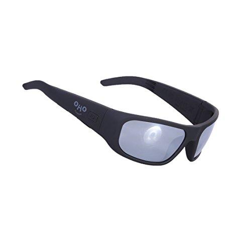 OHO Open Ear Bluetooth Sunglasses Headset with UV Impact Resistant Lens (black+silver - Sunglasses Bt
