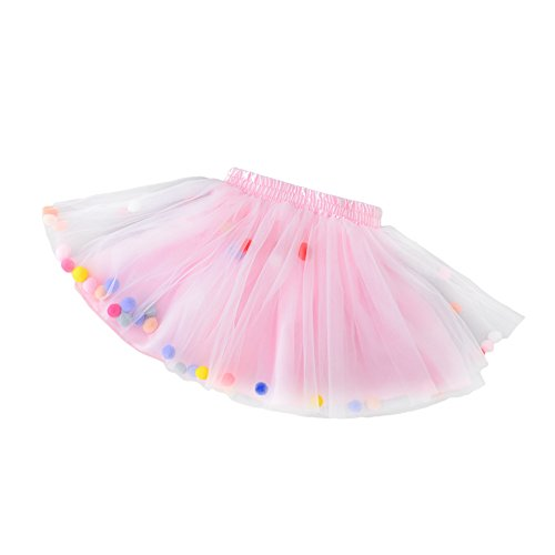Colorful Dance Costume And Setting (DJHbuy Baby Kids Girls Tutu Skirt Tulle Dance Dress Toddler Colorful Plush Balls Costume Dress)