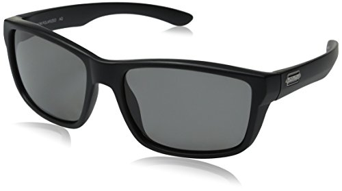 Suncloud Mayor Polarized Sunglasses, Matte Black Frame, Gray Polycarbonate Lenses