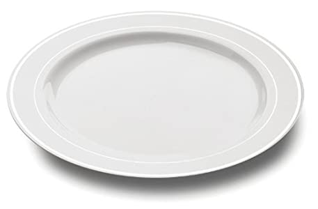 These are very useful plates which now substitute for our regular plates. They are rigid and very light and survive endless repeated use.  sc 1 st  Tableware Reviews & Mozaik 20 Rim Plastic Plates 26cm : Good dinner plate size ...