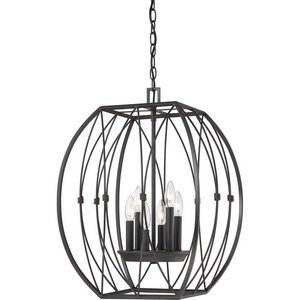Quoizel QF1687IB Quoizel Fixture - Regina with Imperial Bronze Finish, Cage Chandelier and 6 Lights, Brown by Quoizel by Quoizel