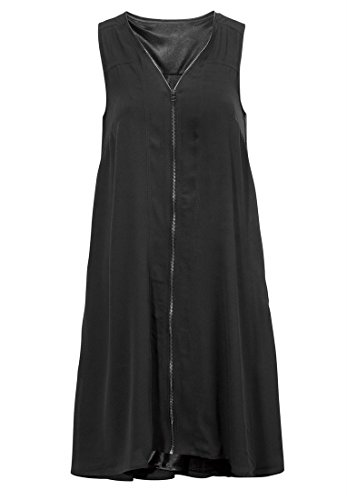 Bargain Catalog Outlet Ellos Plus Size Sleeveless Zip-Front Dress (Black,18 - Ellos Outlet