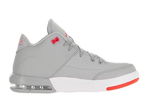 Nike Herren Jordan Flight Provenienza 3 Basketballschuhe, Talla Gris (gris (lupo Grigio / Infrarosso 23-bianco))