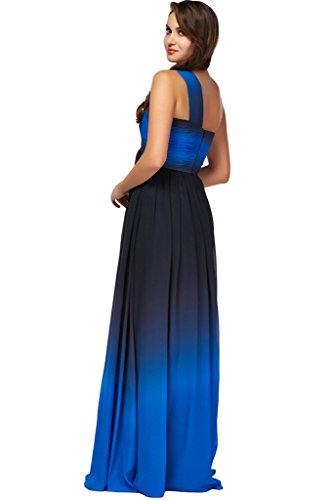 sunvary simple Empire de la cintura One hombro Fiesta Fiesta De Vestido De Fiesta Negro Y Azul