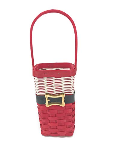 Darice Santa Wine Bottle Holder - Basketweave Wine Holder