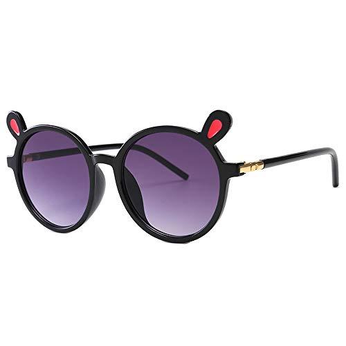 Toddler Children Cute Animal Cartoon Sunglasses UV400 Sun Glasses Goggles Eyewear For Baby Girls&Boys Gift (Gray Lens/Black Frame)