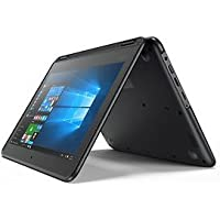 Black Flip design Lenovo 11.6-inch Touchscreen 2-in-1 Business Laptop, Intel Celeron N3060, 4GB Memory, 32GB eMMC, Webcam, Wifi, Bluetooth, Windows 10 Professional (PC)