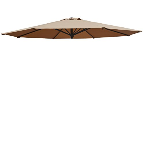 Replacement Patio Umbrella Canopy Cover for 13ft 8 Ribs Umbrella Taupe (CANOPY (Single Replacement Flap)