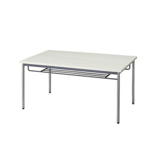 生興 テーブル MTS型会議用テーブル W1800×D900×H700 4本脚タイプ 棚付 MTS-1890IT ニューグレー B015XOKV3I ニューグレー ニューグレー