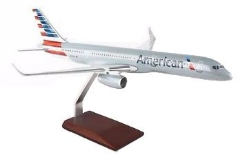 Mastercraft Collection Executive Model MCB757AMPU American Airlines Boeing 757-200 New Livery with Wood Stand