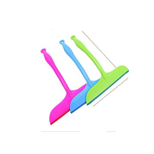 Triamisu Limpiaparabrisas de Ventana de Vidrio de Silicona Ducha para el hogar Espejo de ba/ño Raspador P/úrpura Azul