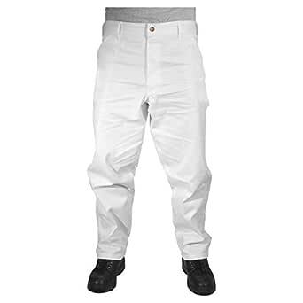 Rugged Blue CSGPTWP1000025167-WHT-46X34 Painters Pants, English, Cotton, 46 x 34 White