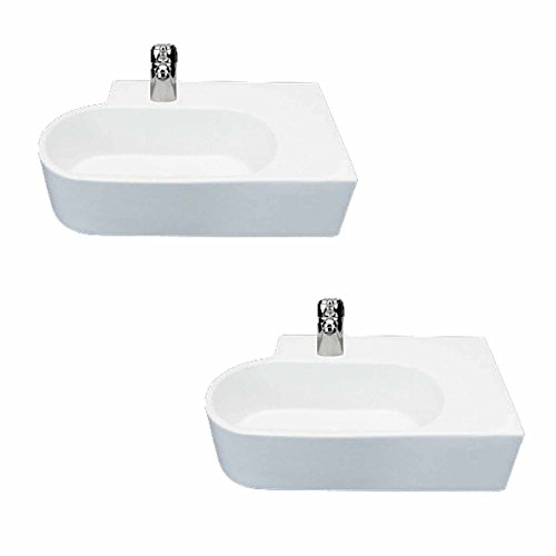 Classic White Corner Sink - Corner Sink White Vitreous China Edwin Corner Over Counter Mount Set Of 2