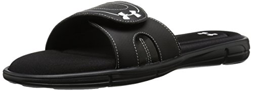 Under Armour Damen Ignite VII Slide Sandale Schwarz-Weiss