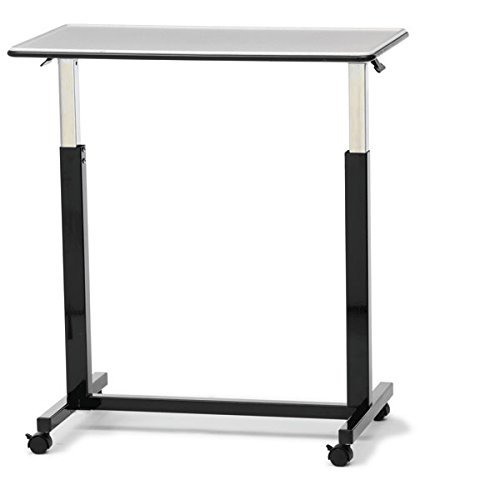 "Over Bed Table H-Base 32""W x 18""D 100lb weight capacity"
