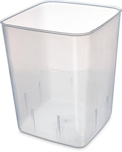 Storplus Food Storage - Carlisle ST154430 StorPlus BPA-Free Food Storage Container Only, 4 Quart, Clear (Pack of 12)