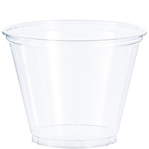 Solo Foodservice TP9R Cold Cup, Clear Squat, 9 oz, Set of 1000