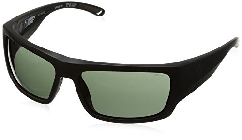 Spy Optic Rover Square Sunglasses, Matte Black Ansi/Happy Gray/Green, 1.5 - Spy Mens Sale Sunglasses