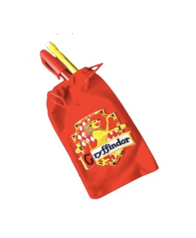 Harry Potter Gryffindor red velvet pencil case with house crest