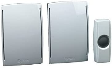 BY533 door bell doorbell Byron Wirefree Plug In Wirefree Doorchime Twin Pack