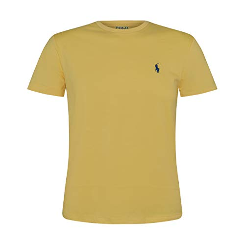 Polo RL Men's Crew Neck Pony T-Shirt-Yellow-Small ()