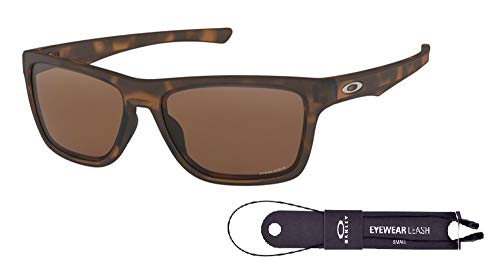 Oakley Holston OO9334 933410 58M Matte Brown Tortoise/Prizm Tungsten Sunglasses For Men+BUNDLE with Oakley Accessory Leash Kit