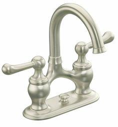 (Kohler Lyntier R10331-4D-BN Lever Handle Lavatory Faucet Set - Brushed Satin Nickel)
