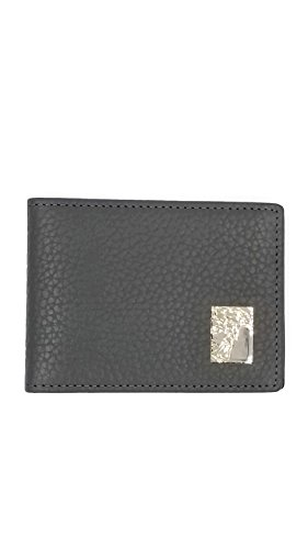Men's Versace Classic Slim Medusa Leather Wallet With Box (Grey w/metal logo)