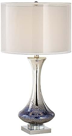 Dinorah Blue Mercury Glass Table Lamp Amazon Com