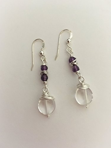 Artisan Crafted Sterling Gemstone - Artisan Silver Wire-wrapped Clear Quartz Crystal