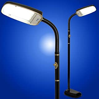 BlueMax 70 Watt Full Spectrum 10,000 Lux Light Therapy/SAD Floor Lamp, Black