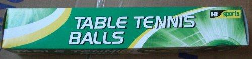 Box of 6 White Table Tennis Balls, 4cm Dia, HB Sports, T04 001 by hb sports by HB Sports